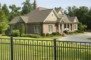 We over 2 styles of black aluminum yard fence for those who prefer to avoid the stark contrast of white