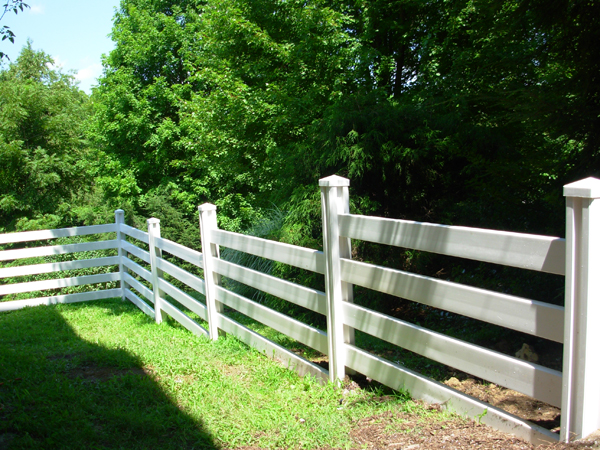 John added a couple more rails to make his ranch rail fence safer for his smaller dog.