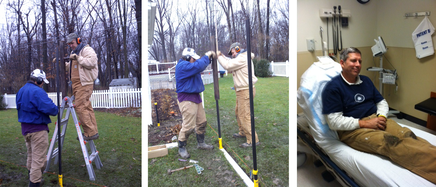 Real friends help pound pipe. But real friends don't let friends use a non-WamBam pounder....