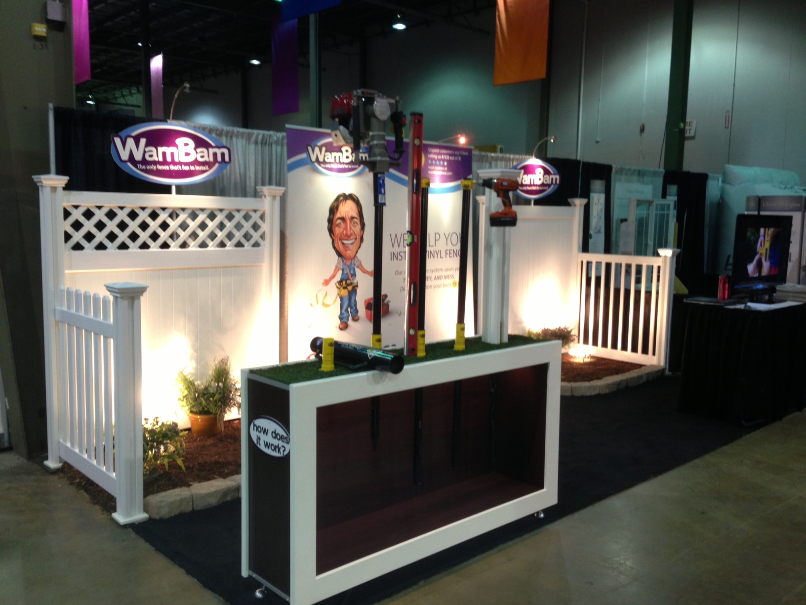 The WamBam booth at the Charlotte Home & Garden Spring Show