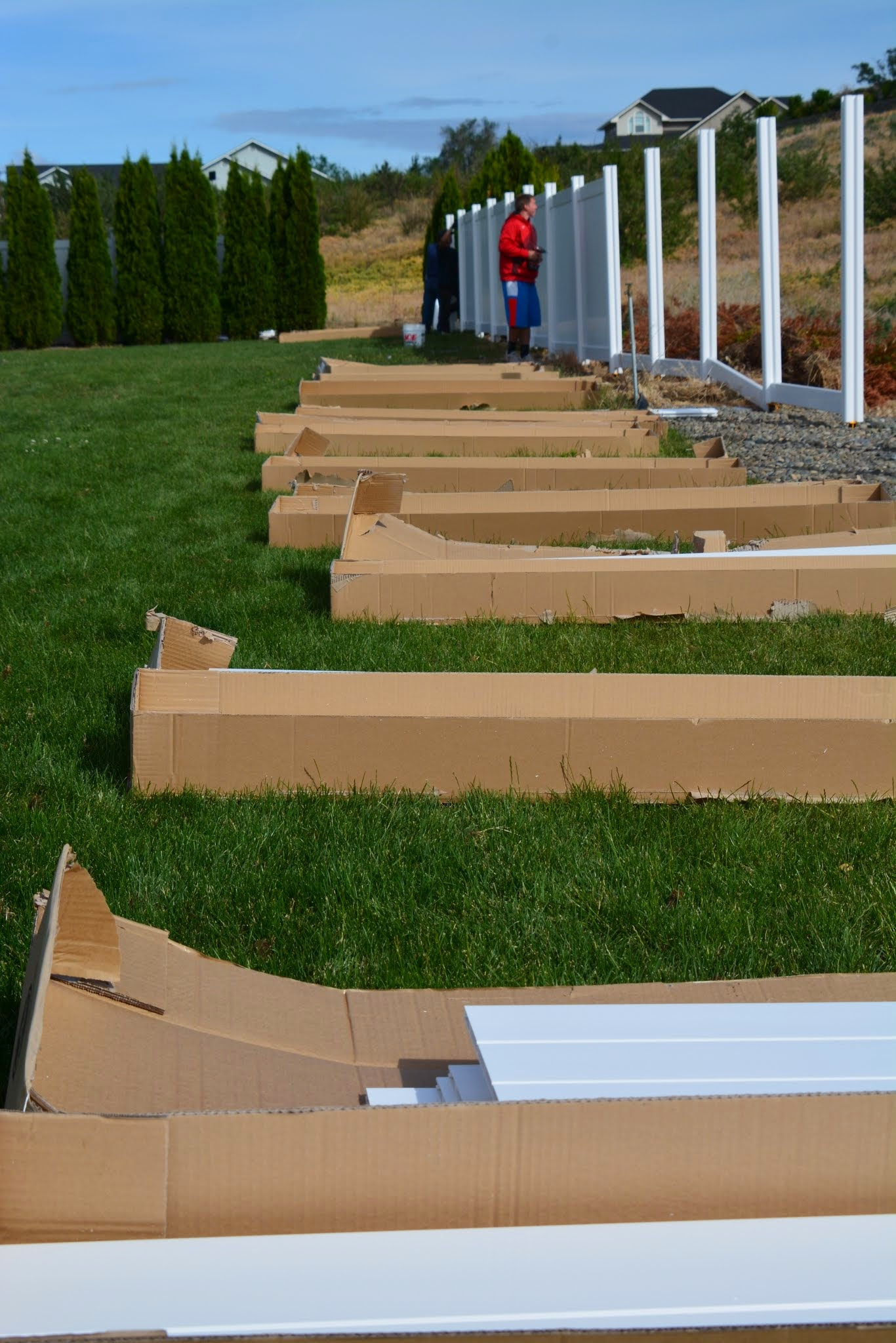 Assembling all the vinyl fence panels