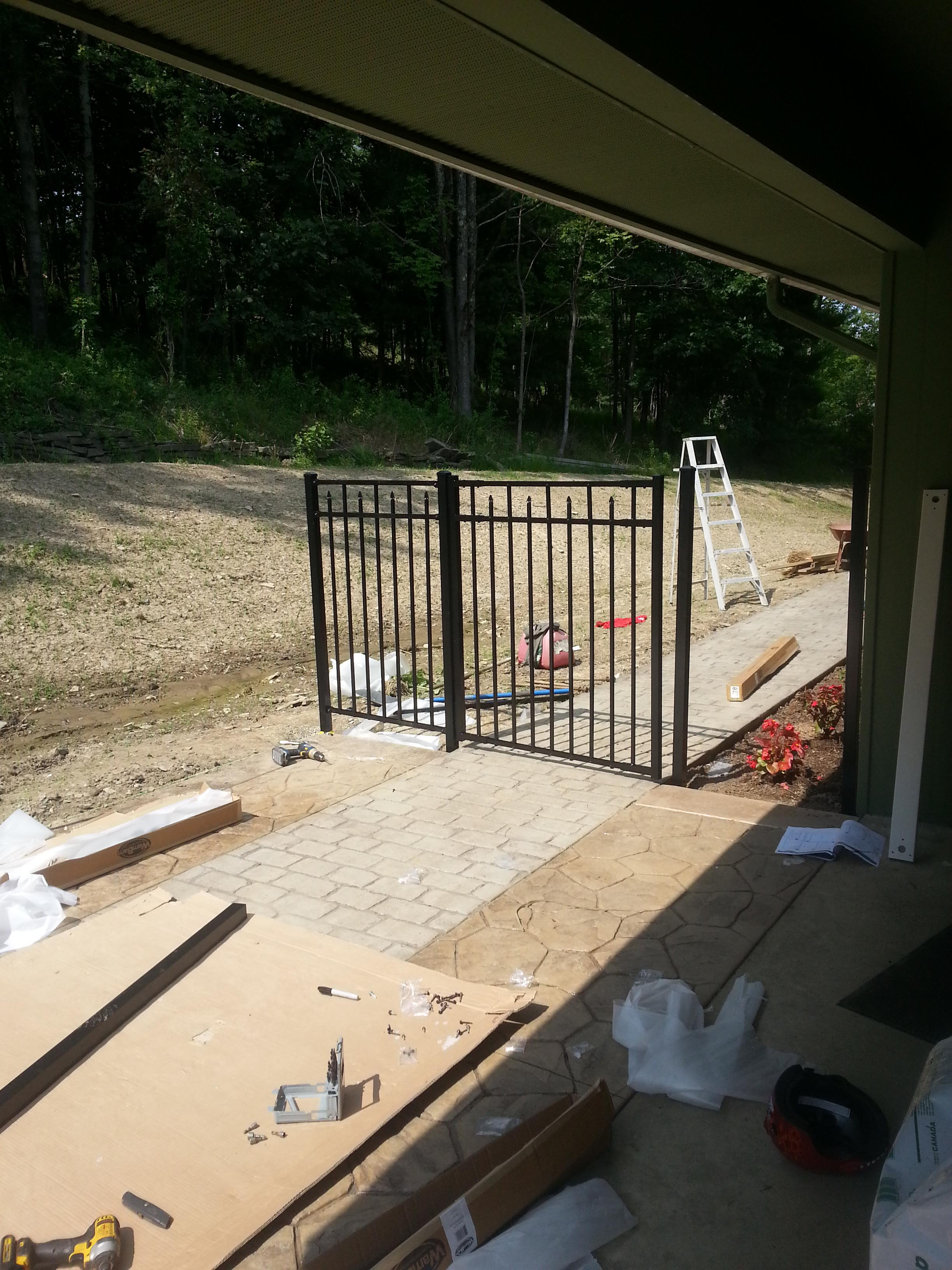 Assembling and installing the aluminum gate