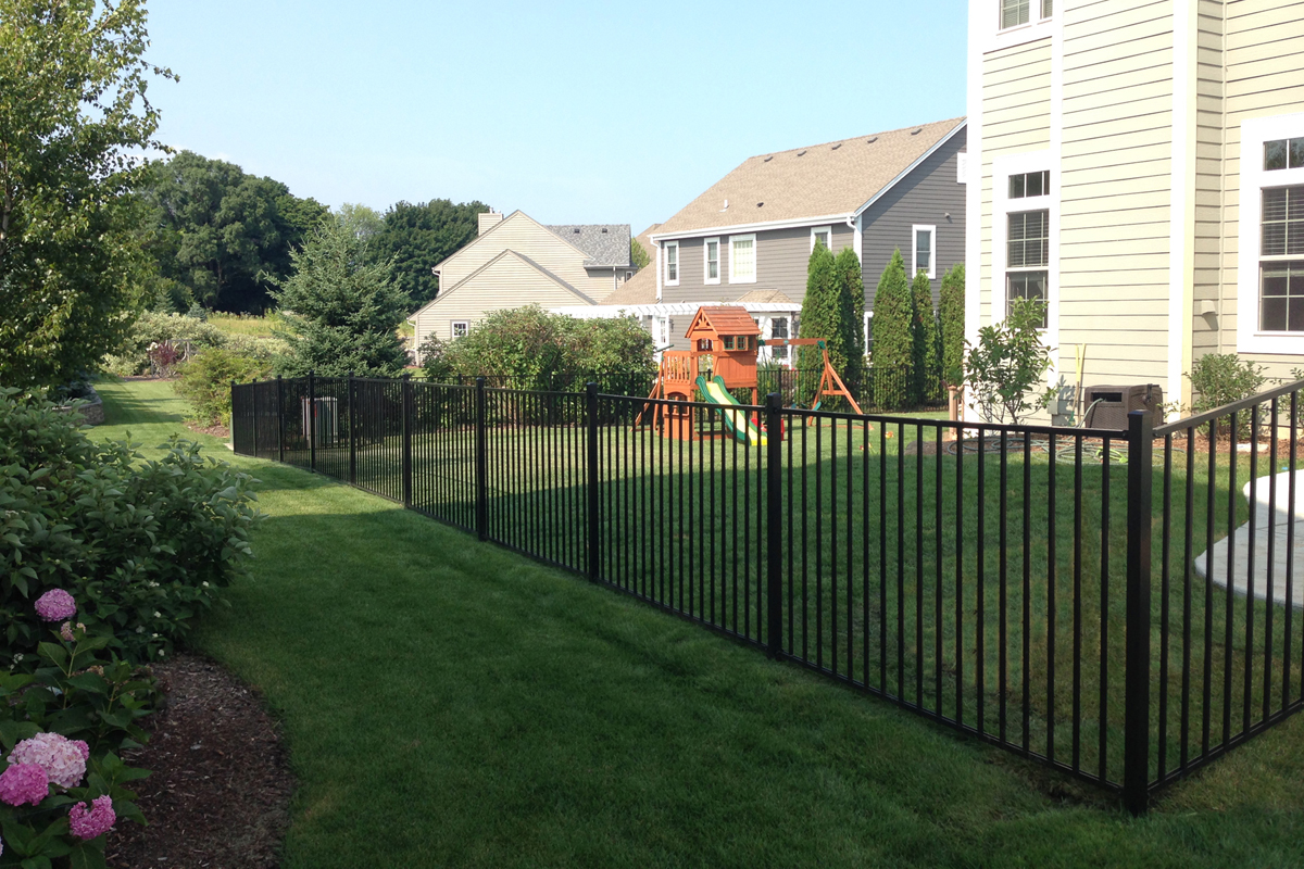 Pictured here is the Slim Jim Aluminum Fence