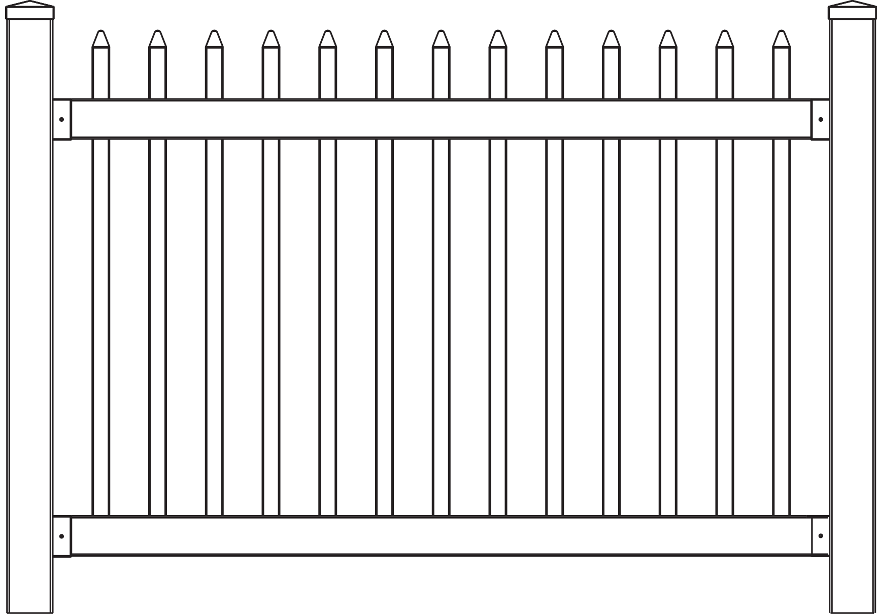 It is a photo of Magic Picket Fence Drawing