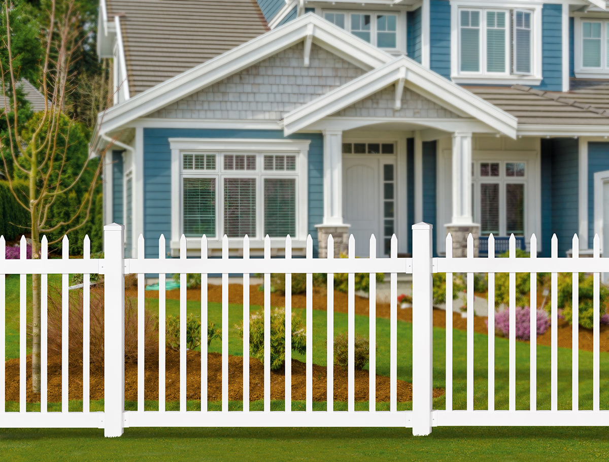 No-Dig Vinyl Nantucket Picket Fence