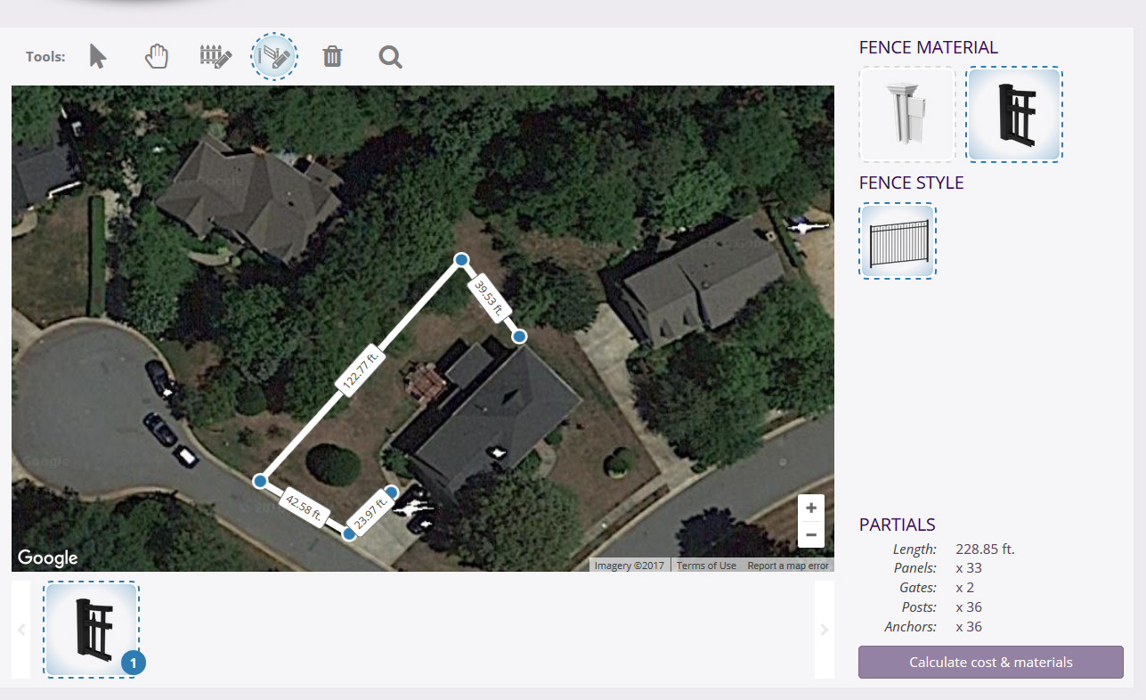 Our quick quote software lets you get a fence quote automatically