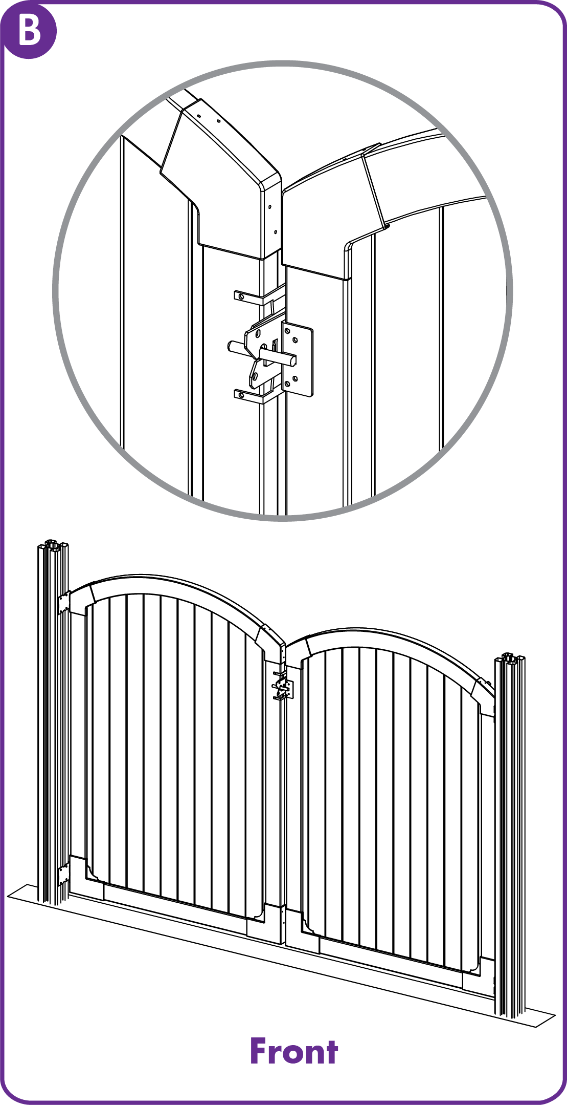 Using Existing Gate Latches for Double Gates - WamBam Fence