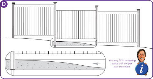 Sloping Ground For My Vinyl Fence